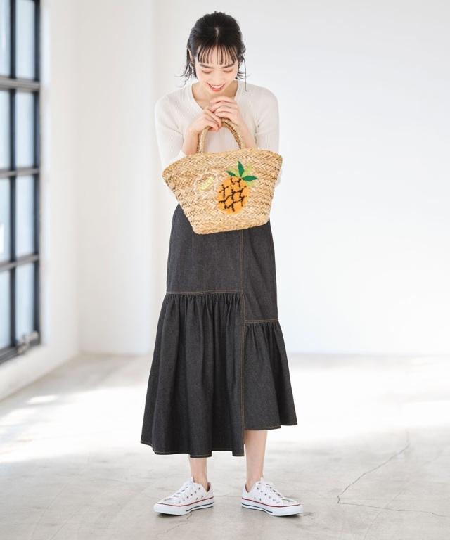 デニム切替スカート《EARLY SPRING COLLECTION》※店舗販売日は1月29日~となります