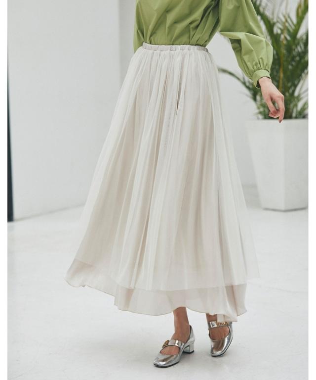 《@si_chaaaanさんコラボ》サテン×チュールレイヤードスカート