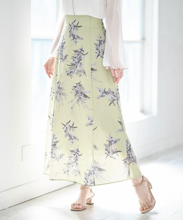 【@skinholictokyoセレクト】フラワーブーケプリントスカート