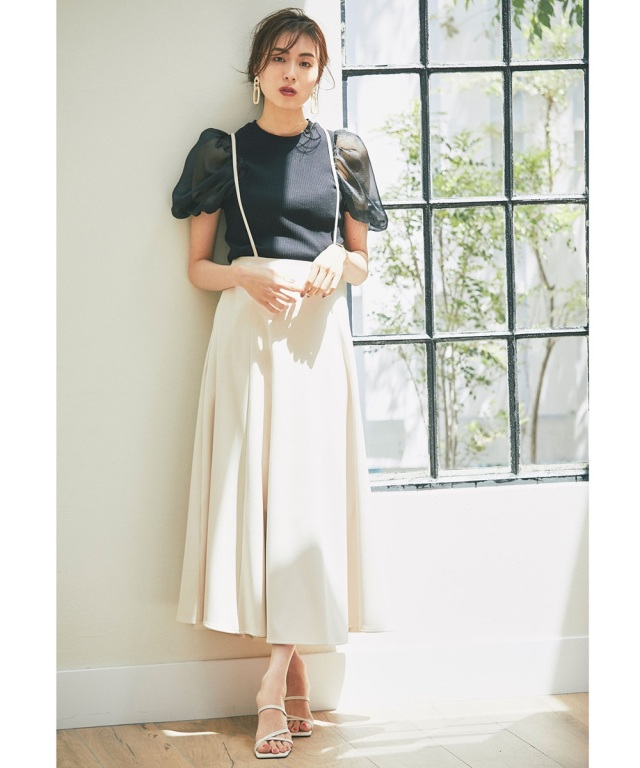 2021年6月17日午前0:00 WEB限定再販!【笹川友里さん着用】サス付きロングフレアスカート