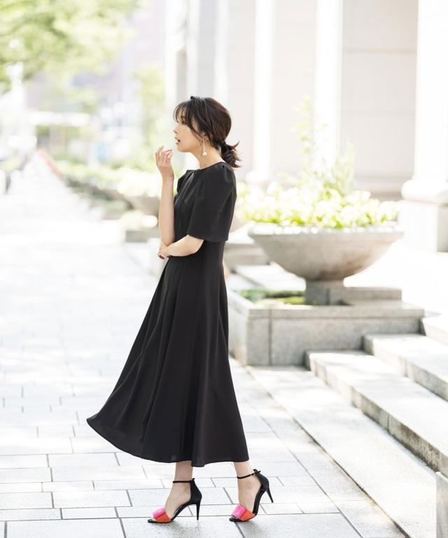 7月28日午前0:00 オフィシャルサイト限定少量再販!スタイルアップフレアワンピース《Occasion Dress》