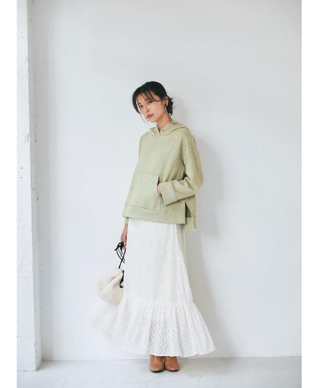 リーフジャガードスカート 《7outfit feel Autumn》