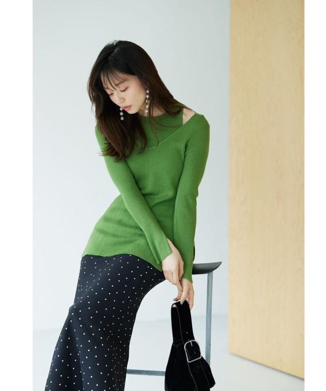 10月6日午前0:00 WEB Store限定再販!《松島花さん着用》《美香さん着用》ハイウエストドットマーメイドスカート