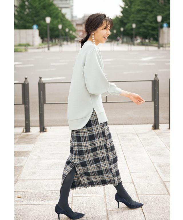 10月18日午前0:00 オフィシャルサイト限定少量再販!リングネップツイードスカート