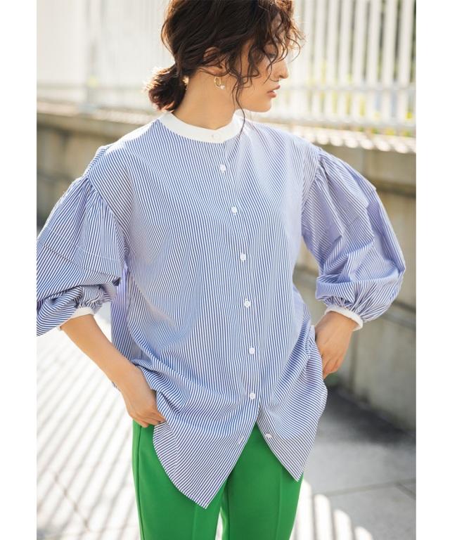《Ayaさん着用》《金子麻貴さん着用》ボリュームスリーブシャツ※店舗販売日は9/26~となります