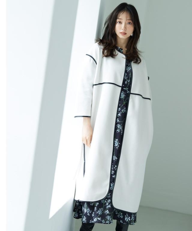 《松島花さん着用》《金子麻貴さん着用》ボリュームパイピングコート