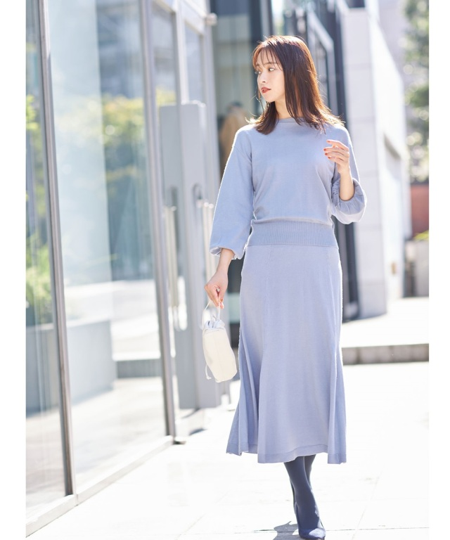 ニットマーメイドスカート 《トレンドアイテムでつくる 着映えコーデ》※店舗販売日は10月27日になります。