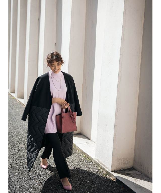 《Ayaさん着用》ラグランキルティングコート WEB Store先行販売 ※店舗販売日は10/10~となります