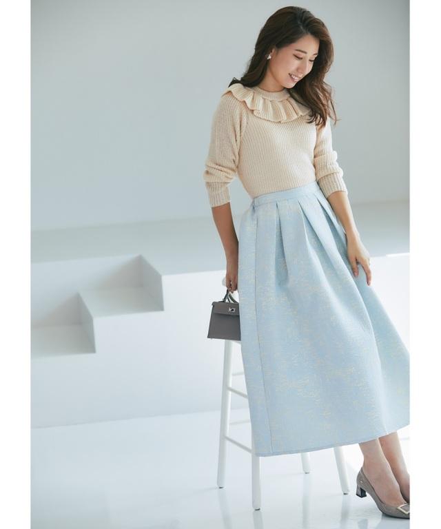 《高田麻紀子さんコラボ》ラメジャガードスカート