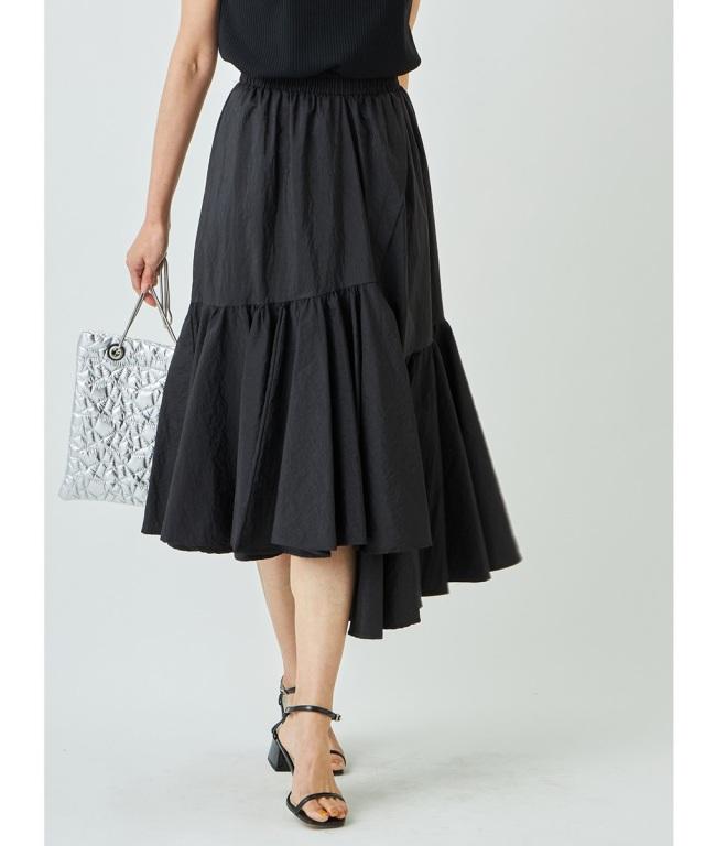 裾フレアギャザースカート
