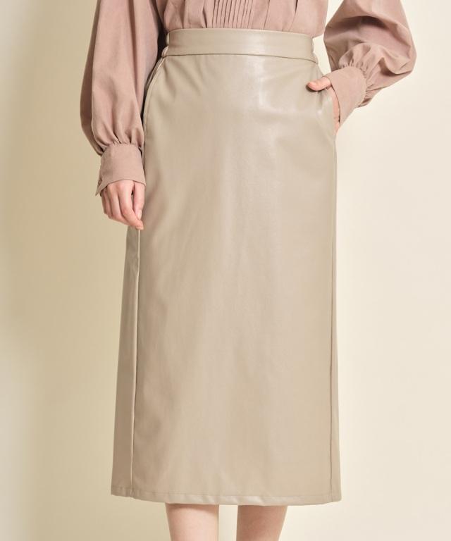 レザーナロースカート《一部店舗のみ入荷》