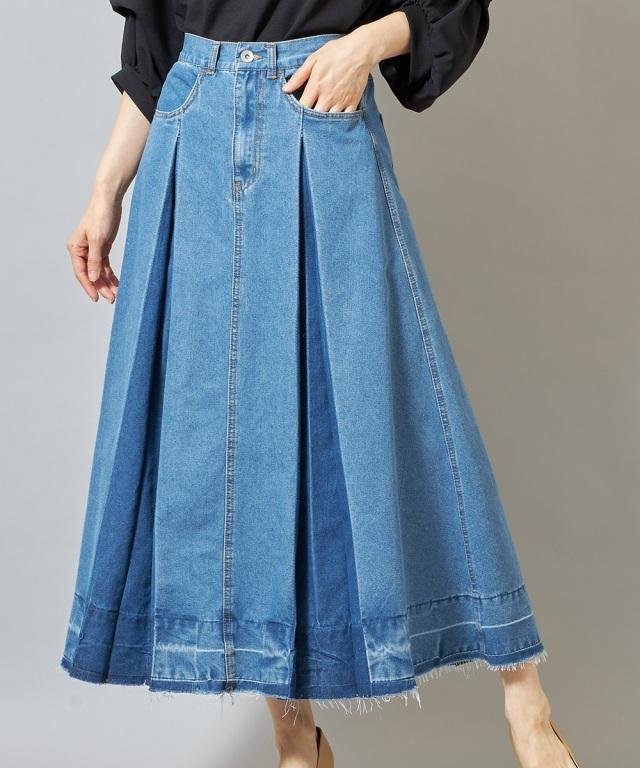 2021年6月13日オフィシャルサイト限定少量再販!インバーテッドプリーツスカート《一部の店舗のみ入荷》