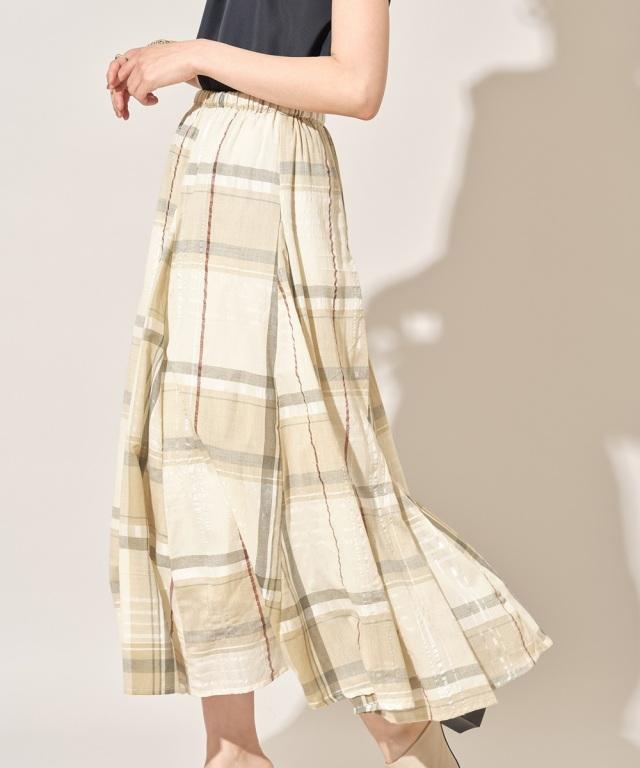 7月29日午前0:00 オフィシャルサイト限定少量再販!チェック切替フレアスカート