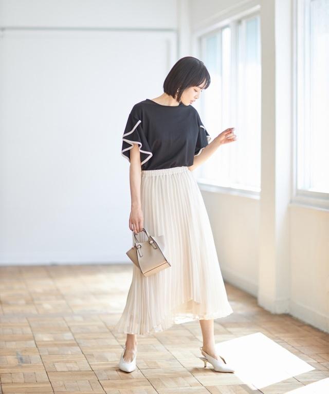6月22日オフィシャルサイト限定少量再販売!アコーディオンプリーツスカート《MONOTONE COLLECTION》