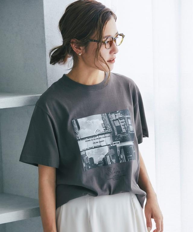 【@sa_youuさん着用】フォトプリントコットンオーバーTシャツ