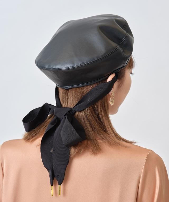 リボン付きベレー帽 ※WEB Stor限定販売