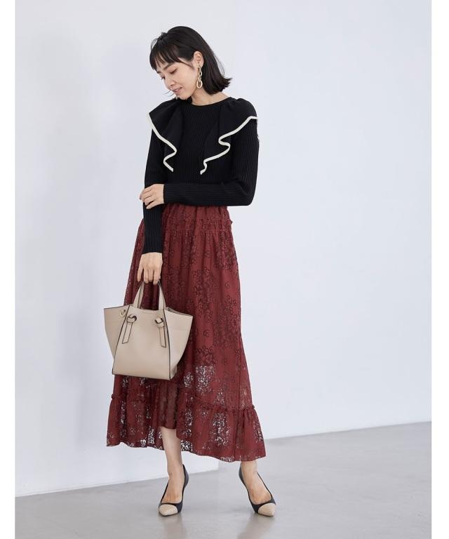 9月7日 午前0:00 再販 透かしレースフリルスカート※WEB Store限定再販売