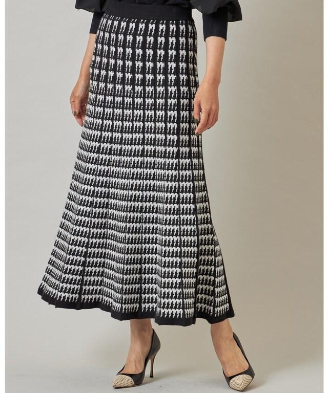 チドリジャガードニットスカート