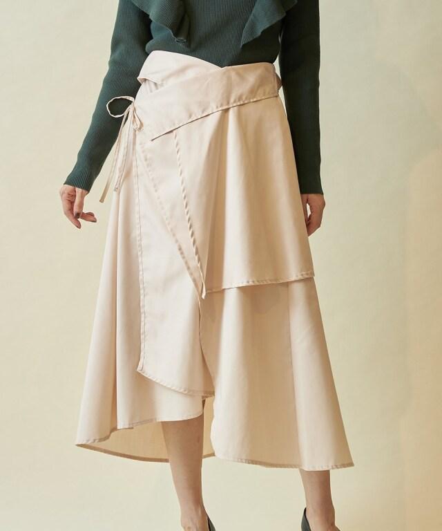 ツイルレイヤード風スカート※一部店舗のみ入荷