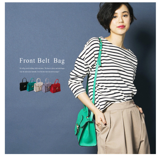 【front belt bag】レディース バッグ
