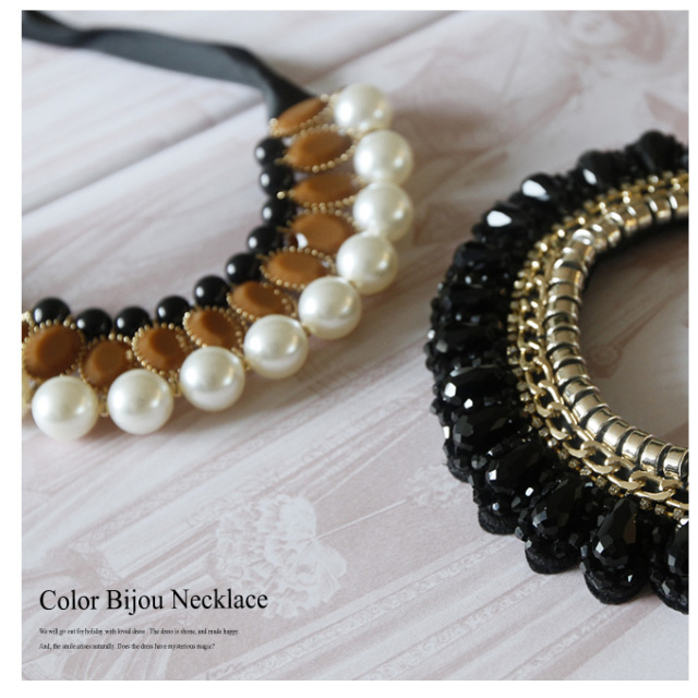 【Color bijou necklace】レディース ネックレス