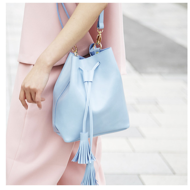 【Tassel shoulder bag】レディース タッセル バッグ