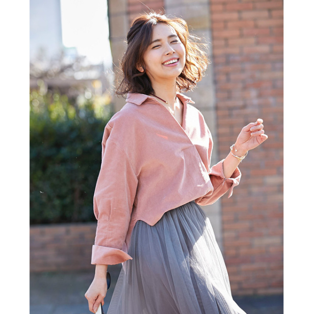 【Corduroy blouse】レディース コーデュロイ トップス