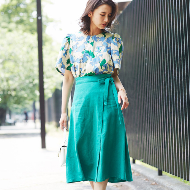 【Rap design skirt】レディース  ラップ スカート*SALE品につき返品/交換/注文確定後の変更キャンセル不可*