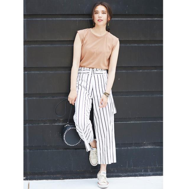【Stripe pants】レディース  ストライプ パンツ*SALE品につき返品/交換/注文確定後の変更キャンセル不可*