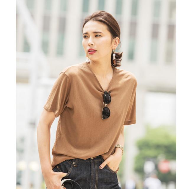 【Cotton  basic T shirt】レディース ベーシック コットン Tシャツ
