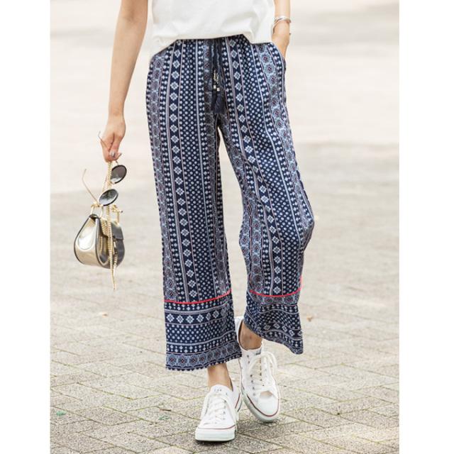 【Vintage print pants】レディース  ヴィンテージプリント パンツ