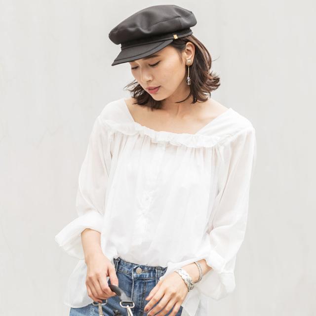 【Cotton blouse】レディース コットン ブラウス