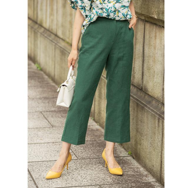 【Linen cropped pants】レディース リネン クロップド パンツ