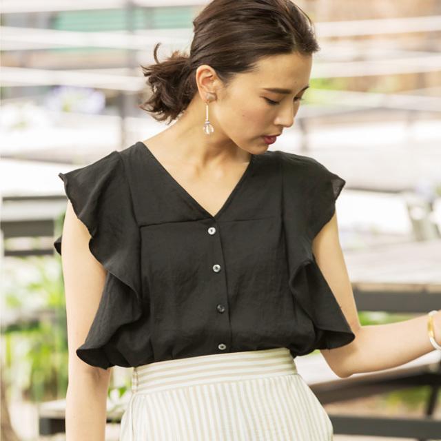 【Flare sleeve blouse】レディース  フレアスリーブ ブラウス