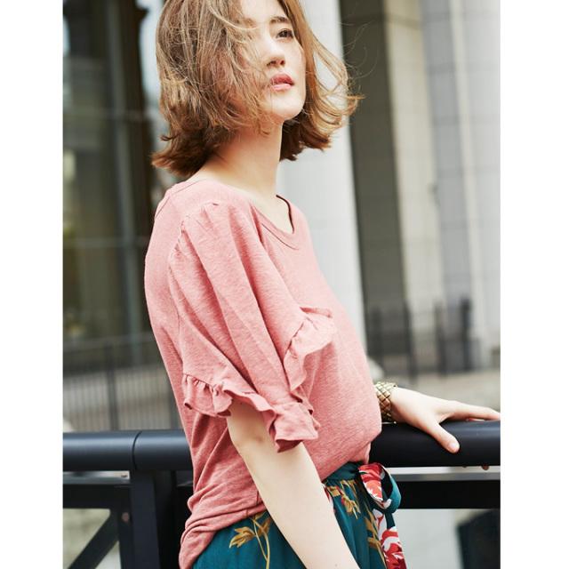 【Frill sleeve T】フリルスリーブ Tシャツ