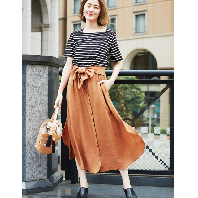 【Front button skirt】フロント ボタン スカート