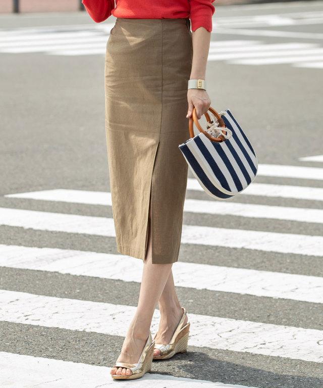 《WEB限定》スリットタイトスカート