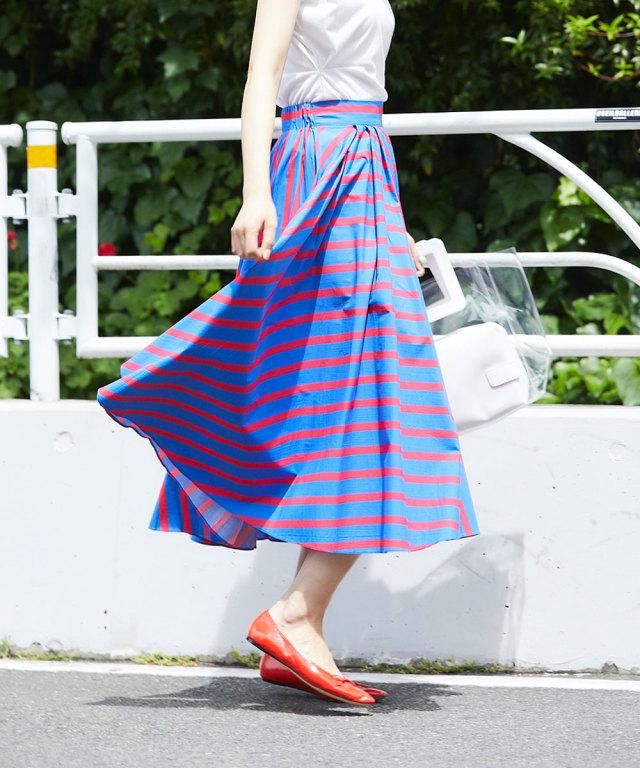 《WEB限定》サーキュラーラインスカート