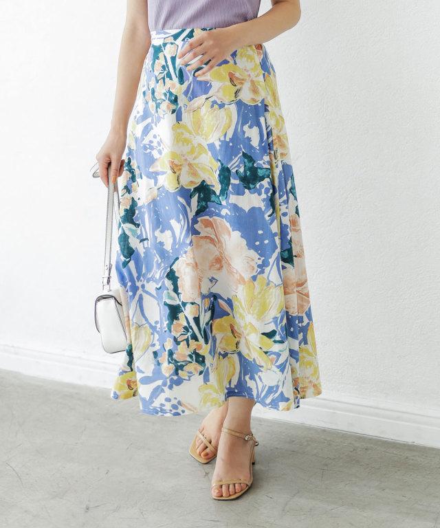 2021年5月3日オフィシャルサイト限定少量再販!コットンフラワーフレアスカート