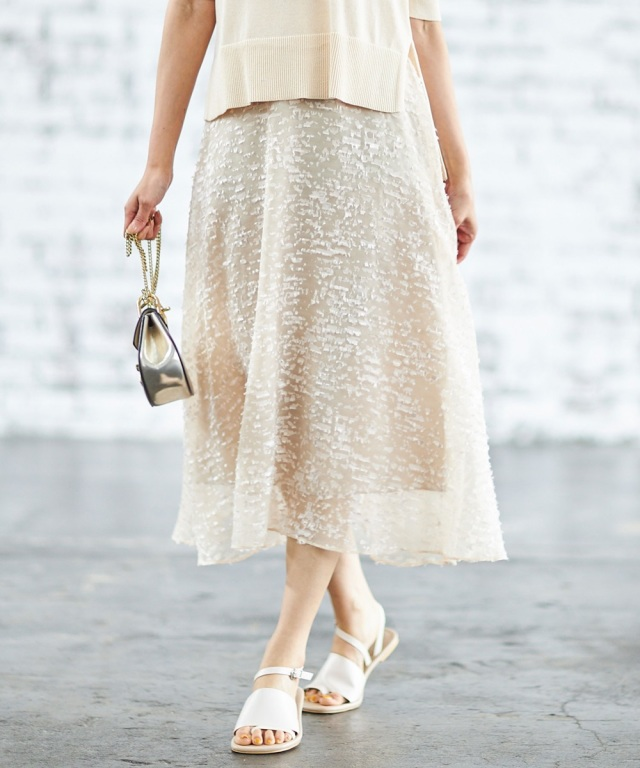 《WEB限定》シアージャガードAラインスカート