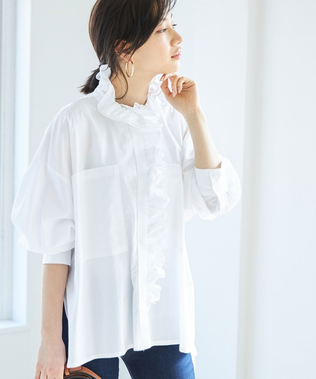 《WEB限定》フリルデザインシャツ
