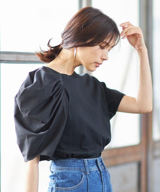 アシメショルダー半袖Tシャツ※店舗の販売日は2020年7月2日からになります。