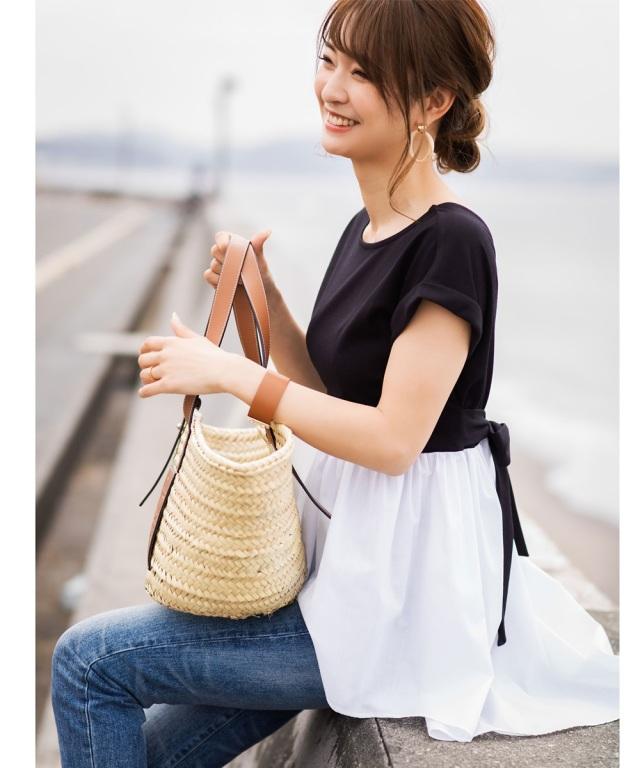 9月1日午前0:00公式WEB限定再販!《@n.airi_taitoさん着用》ドッキングバックテールTシャツ