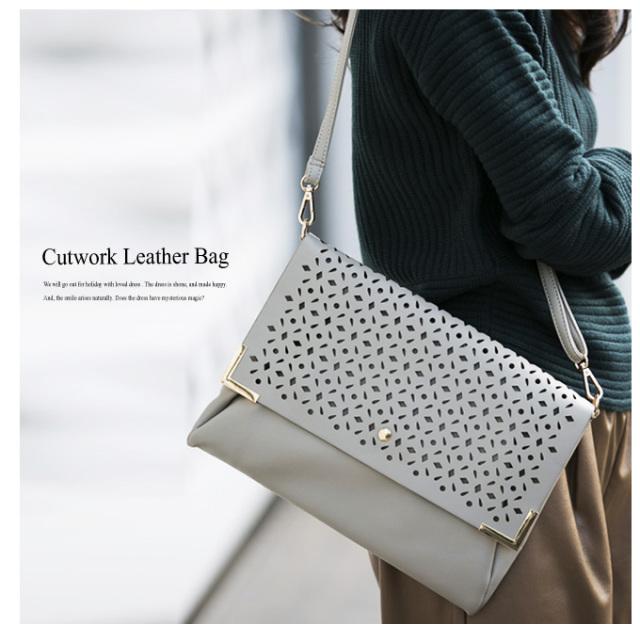 【Cutwork shoulder bag】レディース  カットワーク バッグ