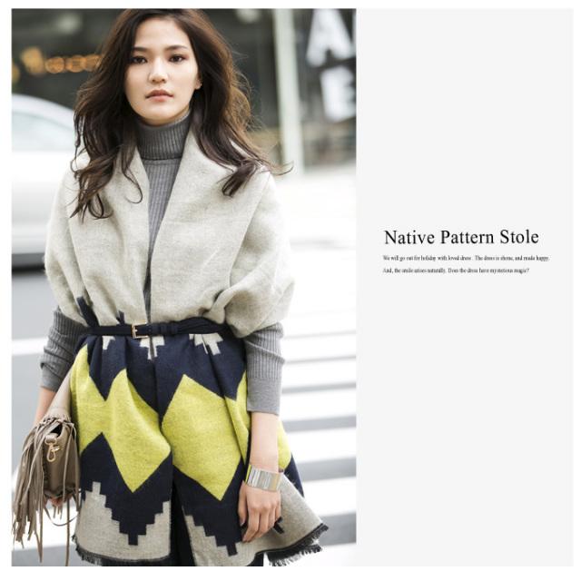 【Native pattern stole】レディース ストール
