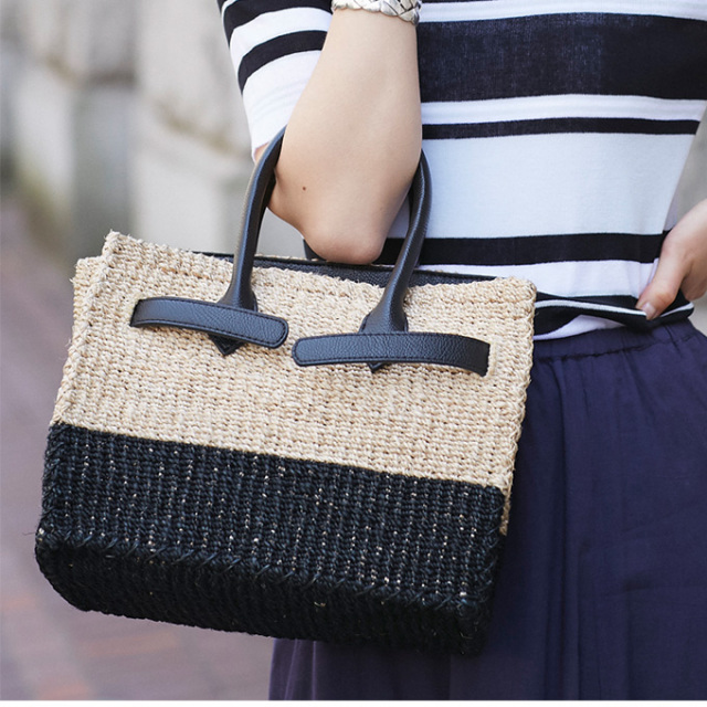 《WITH 7月号掲載》【Square basket bag (S) 】レディース  スクエア カゴバッグ