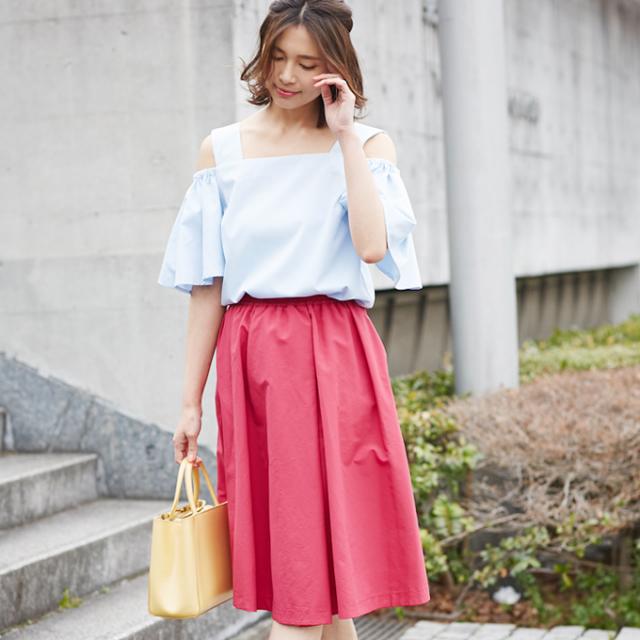 6月18日午前0:00再販≪andGIRL 11月号掲載≫【Asymmetry tuck skirt】レディース アシンメトリー スカート