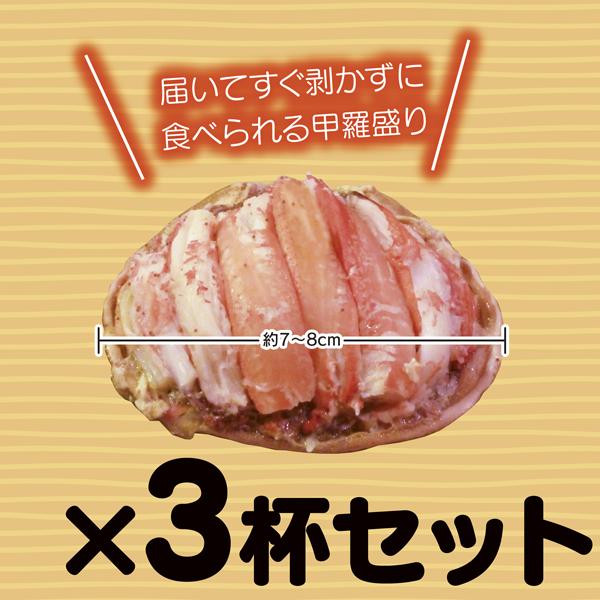 香箱ガニの甲羅盛り3杯セット通販~大きめサイズで食べ応えたっぷり~(ゆでて身出し、盛り付け済)【冷蔵・送料別】