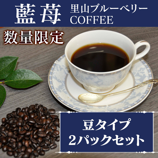 藍苺 里山ブルーベリーCOFFEE 豆タイプ 2パック