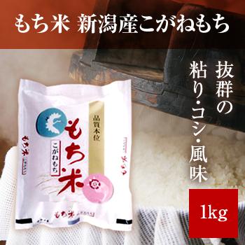 30年産  新潟産もち米1kg(こがねもち)